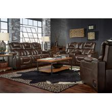 739 Manhattan Brown Power Leather Reclining Sofa w/DDT and Reclining Loveseat