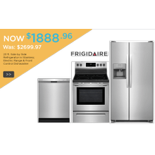 Frigidaire Kitchen Package w/Side by Side in Stainless