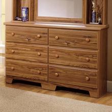 See Details - Shaker 57 Inch 6 Drawer Dresser with Roller Glides (SHA-H-657)
