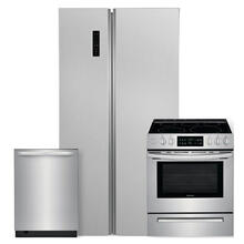 See Details - FRIGIDAIRE 18.8 cu. ft. 36'' Counter-Depth Side-by-Side Refrigerator 3 Piece Package