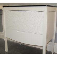 Discontinued vanity with black glass top