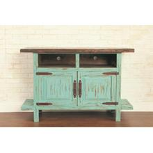 "Rustic Turquoise 55"" TV Stand"