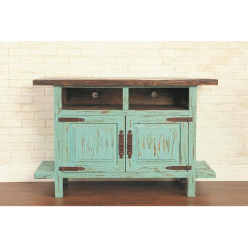 """Rustic Turquoise 55"""" TV Stand"""