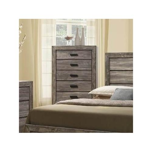 Elements - Nathan Rustic Chest with Five Drawers