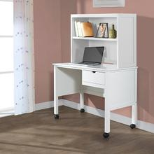 White Drawer Desk w/ Hutch