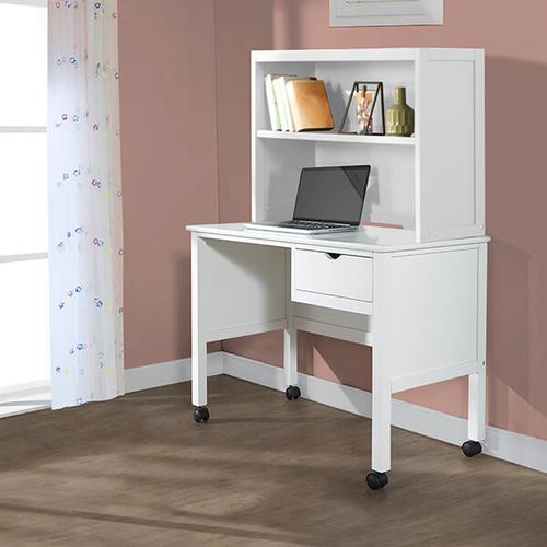 White Drawer Desk w/ Hutch