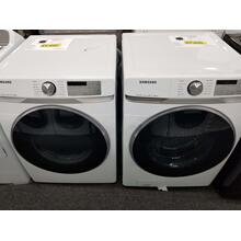 See Details - Samsung Electric Dryer and Front Load Washer Set DVE45R6300W WF45R6300AW (FLOOR MODEL)