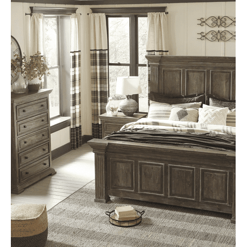 Wyndahl - Rustic Brown - King Panel Bed
