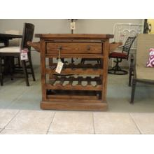 Medium Pine Server Cart with Granite style inlay and Server Tray