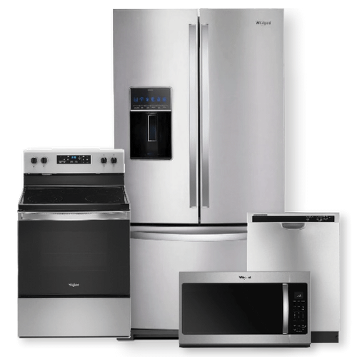 WHIRLPOOL 36-inch Wide French Door Refrigerator & 5.3 cu. ft. Electric Range Package- Minor Case Imperfections