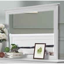 See Details - Versailles White Bedroom Mirror