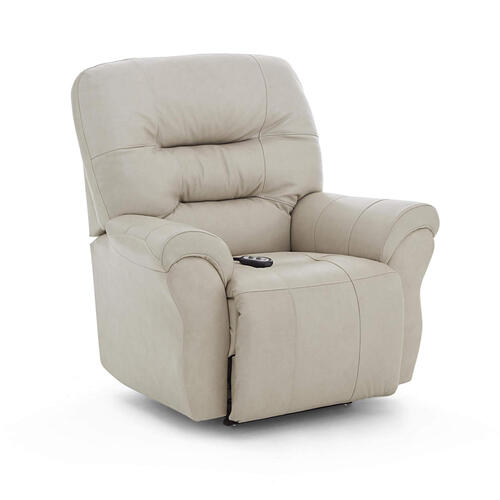 Unity Medium Leather Rocker Recliner (Sand)