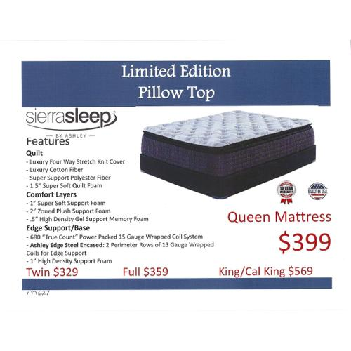 Ashley Limited Edition Pillow Top Mattress by Sierra Sleep