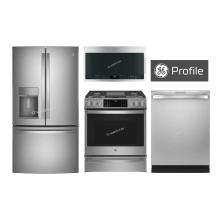 "GE Profile 36"" French Door (Counter-Depth) W/ Slide-In Gas Range"