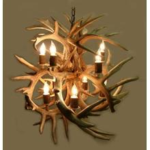 FIREBALL ANTLER CHANDELIER - WHITETAIL DEER ANTLER