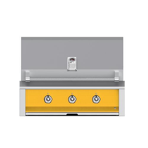 "Aspire By Hestan 36"" Built-In U-Burner Grill NG Yellow"