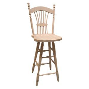 Colonial Wheat Swivel Bar Chair