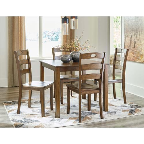 D419-225  Table and 4 Chairs