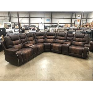 Embassy - Sectional with three recliners. #UPM3613