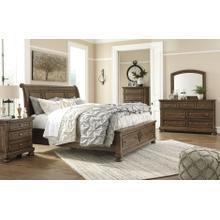 Flynter Sleigh Storage Bed, Dresser, Mirror
