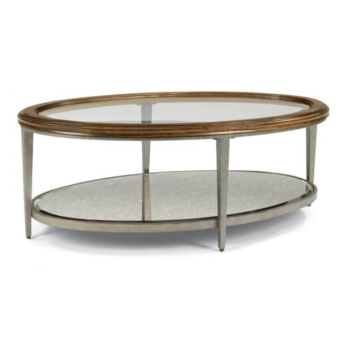 Flexsteel Patina 2 Piece Set: Oval Cocktail and Oval End Table