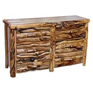 8 Drawer Dresser Log Front Wild Panel Gnarly Log