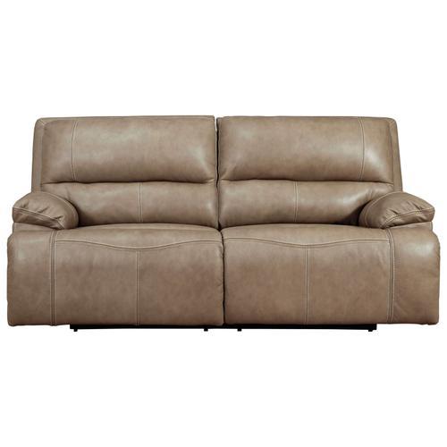 ASHLEY U43702-44 Ricmen Putty Power Leather Reclining Sofa