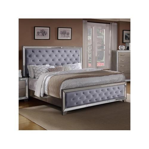 CrownMark Cosette Gray Gold Queen Bed, B7680Q