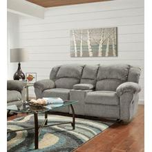 See Details - Allure Grey Reclining Console Loveseat