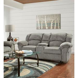 Allure Grey Reclining Console Loveseat