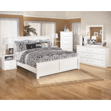 Bostwick Shoals- White- 8 pc.- Dresser, Mirror, Chest, Nightstand & Queen Panel Bed