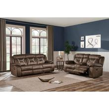 Console Reclining LoveseatSultry Chocolate / Sultry Pecan