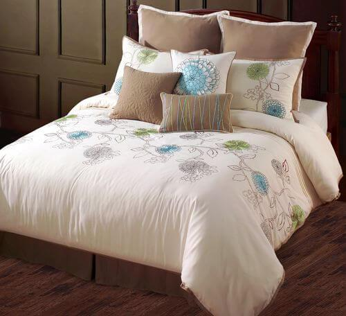Spring Flower King 10pc Comforter Set & Queen 9pc Comforter set