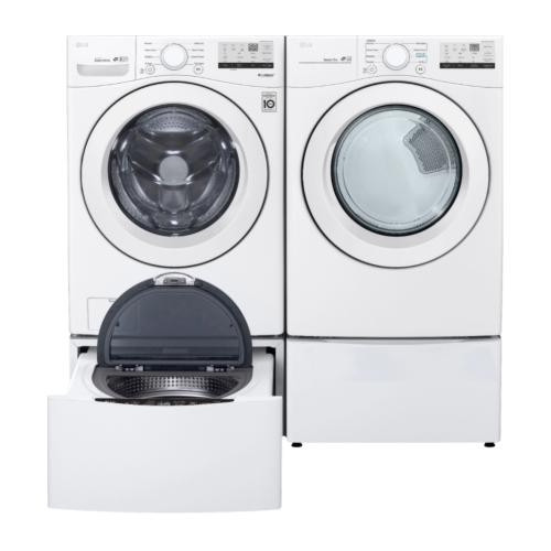 LG 4.5 cu. ft. Ultra Large Front Load Washer & 7.4 cu. ft. Ultra Large Capacity Electric Dryer with Pedestals