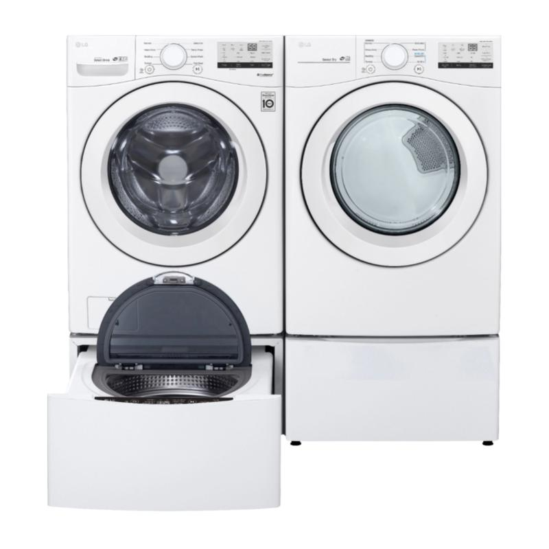 View Product - LG 4.5 cu. ft. Ultra Large Front Load Washer & 7.4 cu. ft. Ultra Large Capacity Electric Dryer with Pedestals