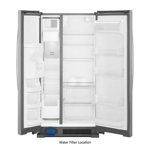 Whirlpool 24.6-cu ft Side-by-Side Refrigerator with Ice Maker (Fingerprint-Resistant Stainless Steel