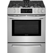 "Frigidaire 5.0CF Stainless Steel 30"" Slide In Gas Range with Self Clean"
