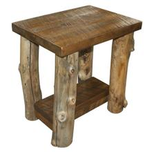 A276 Side Table with Shelf