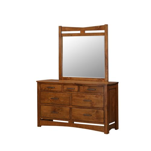 Country Value Woodworks - Homestead Triple Dresser and Mirror