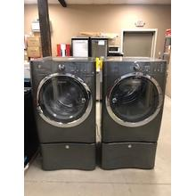 Used Electrolux Front Load Washer and Electric Dryer Set with Pedestals