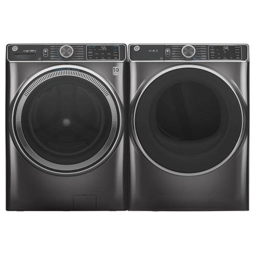GE Smart Front Load Washer & Dryer with Ultra Fresh Vent - Diamond Gray