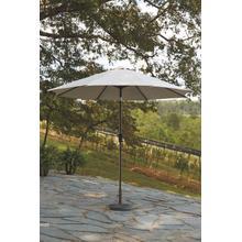 See Details - Ashley Beige Medium Auto Tilt Umbrella