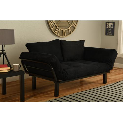 Mattress Discount Southgate - Black Spacely Lounger Suede Black