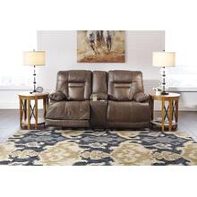 Wurstrow PWR REC Loveseat with Console & ADJ Headrest - Umber