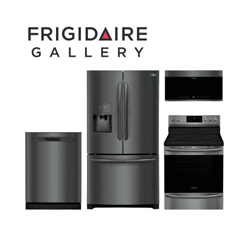 Frigidaire Gallery 4 Piece Black Stainless Steel Kitchen Package