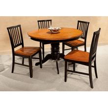 "Arlington 48"" Ped Table - Black and Java"