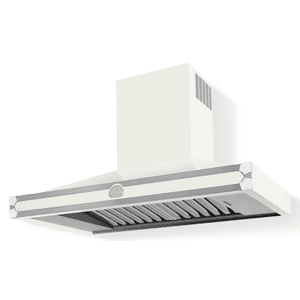 Lacornue Cornufe - Pure White Cornufe 110 Hood with Polished Chrome Accents