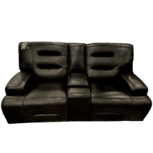 See Details - Leather Power Loveseat w/ Power Headrest