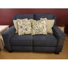 See Details - West End Double Reclining Power Loveseat with Pillows