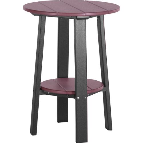 """Deluxe End Table 28"""" Cherrywood and Black"""
